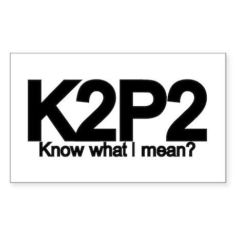 K2P2 Knit & Purl Rectangle Sticker