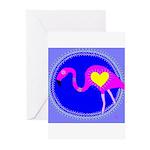 flamingo Greeting Cards (Pk of 10)