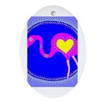 flamingo Oval Ornament