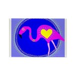 flamingo Rectangle Magnet (100 pack)