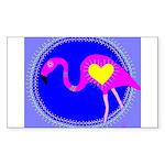 flamingo Rectangle Sticker