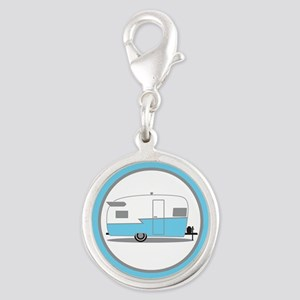 Blue And White Vintage Shasta Travel Trailer Charm