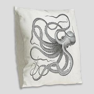 Large nautical steampunk vinta Burlap Throw Pillow