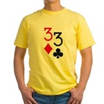 Pocket Threes Yellow T-Shirt