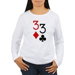 Pocket Threes Women's Long Sleeve T-Shirt