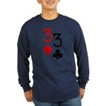 Pocket Threes Long Sleeve Dark T-Shirt