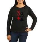 Pocket Threes Women's Long Sleeve Dark T-Shirt