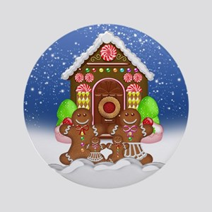Christmas Gingerbread Family Ornament (Round)
