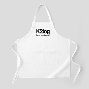 K2tog Knit Together BBQ Apron