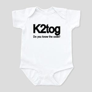K2tog Knit Together Infant Bodysuit