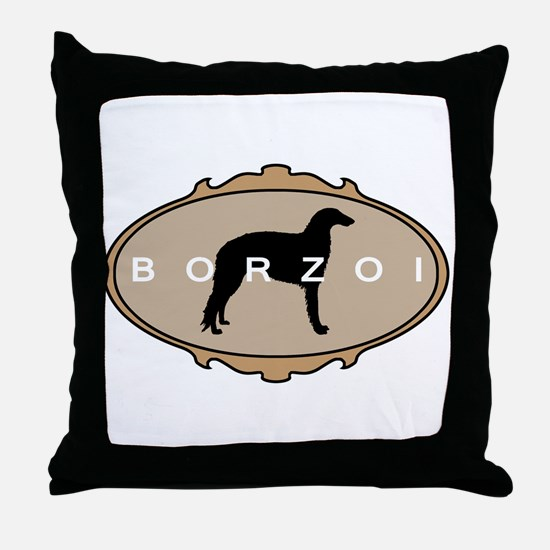 Borzoi Dog Breed Throw Pillow