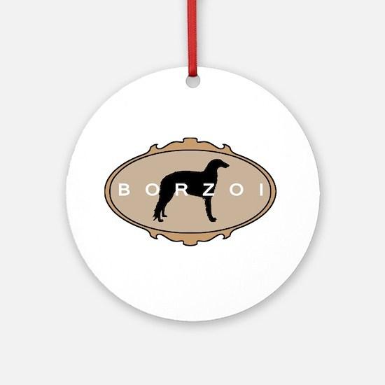 Borzoi Dog Breed Ornament (Round)