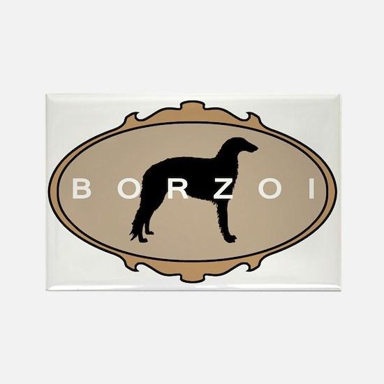 Borzoi Dog Breed Rectangle Magnet
