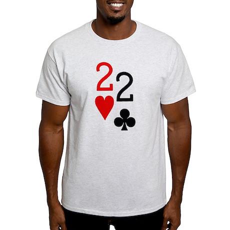 Pocket Deuces Poker Light T-Shirt