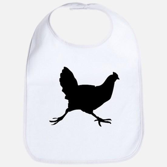 Chicken Silhouette Bib