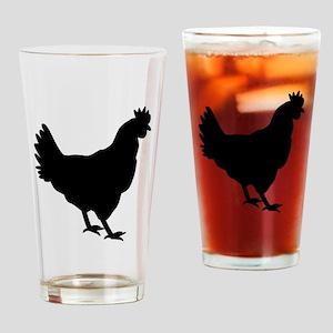 Chicken Silhouette Drinking Glass