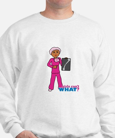 X-Ray Tech Dark Pink Scrubs Sweatshirt