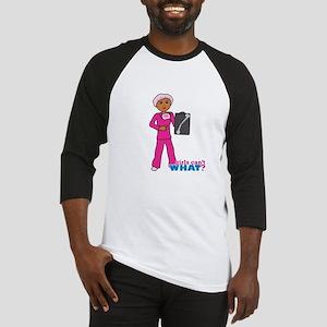 X-Ray Tech Dark Pink Scrubs Baseball Jersey