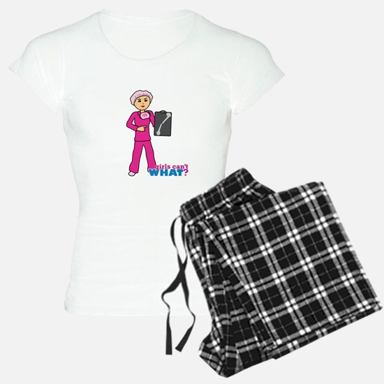 X-Ray Tech Medium Pink Scrubs Pajamas