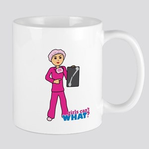 X-Ray Tech Medium Pink Scrubs Mug