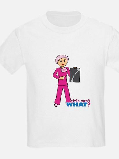 X-Ray Tech Medium Pink Scrubs T-Shirt