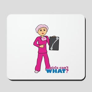 X-Ray Tech Medium Pink Scrubs Mousepad