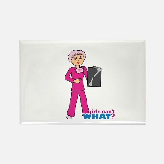 X-Ray Tech Medium Pink Scrubs Rectangle Magnet