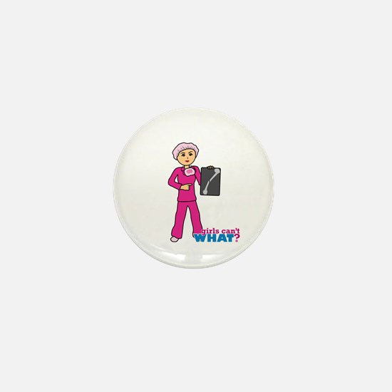 X-Ray Tech Medium Pink Scrubs Mini Button