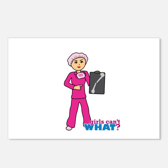 X-Ray Tech Medium Pink Scrubs Postcards (Package o