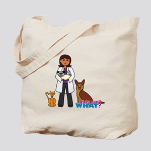 Woman Veterinarian Dark Brown Hair Tote Bag