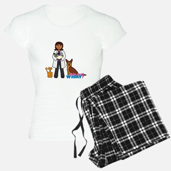 Woman Veterinarian Dark Brown Hair Pajamas