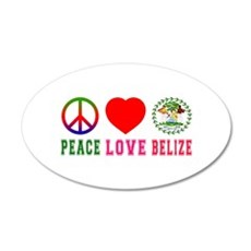 Peace Love Belize Wall Decal