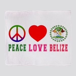 Peace Love Belize Throw Blanket