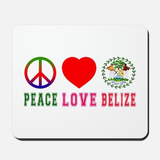 Peace Love Belize Mousepad