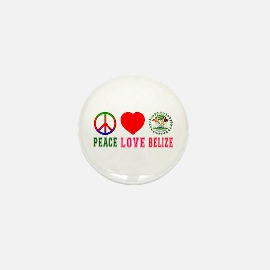 Peace Love Belize Mini Button