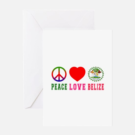 Peace Love Belize Greeting Card