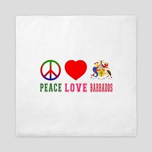Peace Love Barbados Queen Duvet