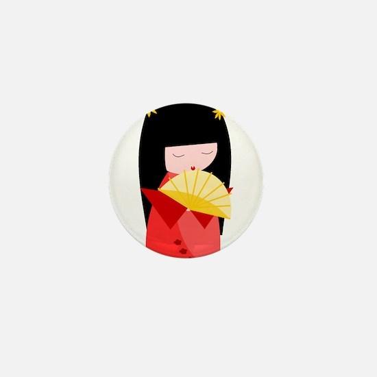 Cute Kimono Mini Button