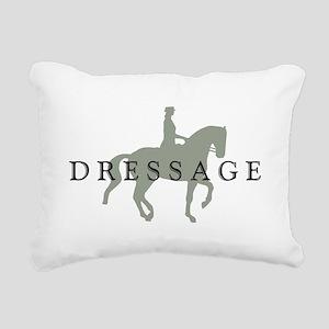 Piaffe w/ Dressage Text Rectangular Canvas Pillow