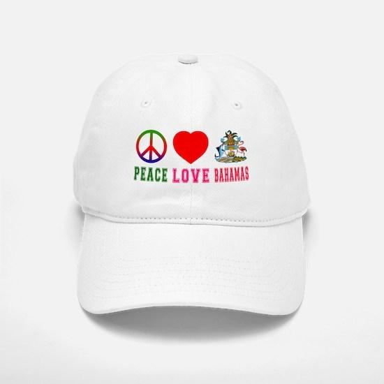 Peace Love Bahamas Baseball Baseball Cap