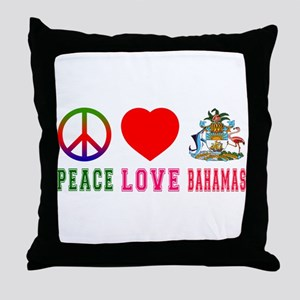 Peace Love Bahamas Throw Pillow