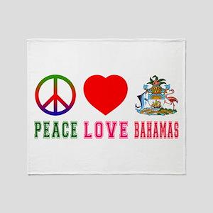 Peace Love Bahamas Throw Blanket