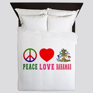 Peace Love Bahamas Queen Duvet