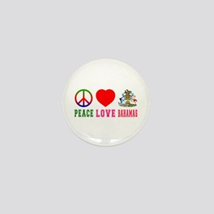 Peace Love Bahamas Mini Button