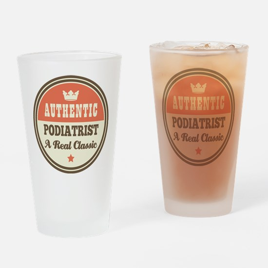 Podiatrist Vintage Drinking Glass