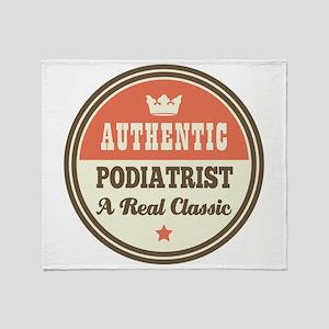 Podiatrist Vintage Throw Blanket