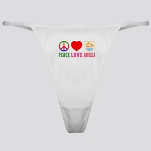 Peace Love Anguilla Classic Thong
