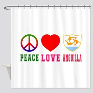 Peace Love Anguilla Shower Curtain