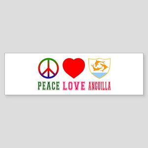 Peace Love Anguilla Sticker (Bumper)