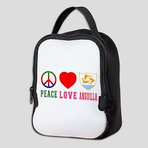 Peace Love Anguilla Neoprene Lunch Bag